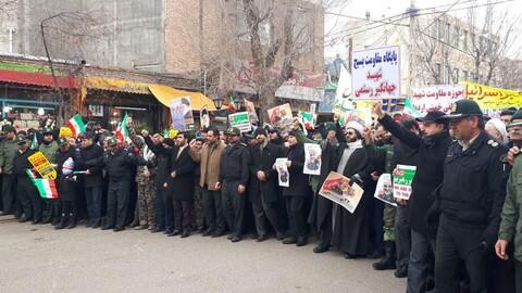 تصاویر / حضور روحانیون و مردم سراب در راهپیمایی 22 بهمن