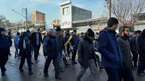 حضور روحانیون مرند در راهپیمایی ۲۲ بهمن