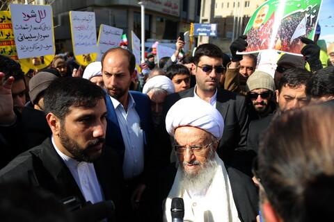 حضور مراجع و شخصیتهای حوزوی در راهپیمایی ۲۲ بهمن