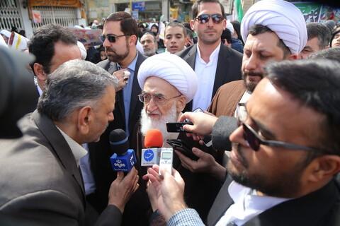 تصاویر / حضور مراجع تقلید ، علما و روحانیون در مراسم یوم الله 22 بهمن