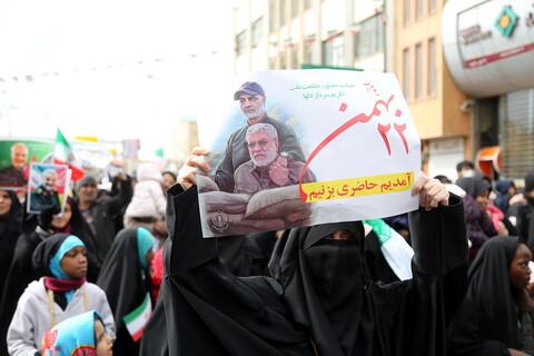 تصاویر/ حضور مردم قم در راهپیمایی 22بهمن