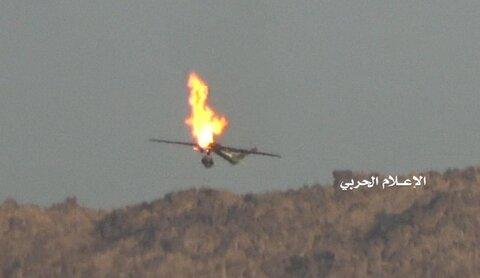 اسقاط طائرة استطلاعية لتحالف العدوان قبالة جيزان