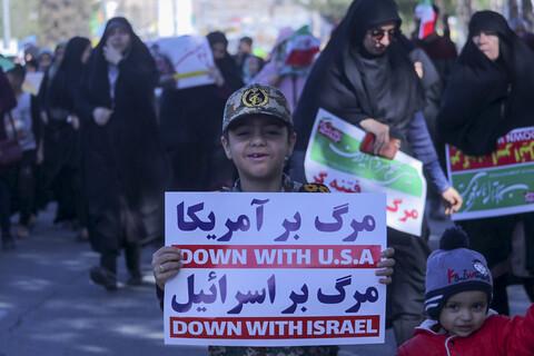 گزارش تصویری/ راهپیمای با شکوه 22 بهمن در بیرجند