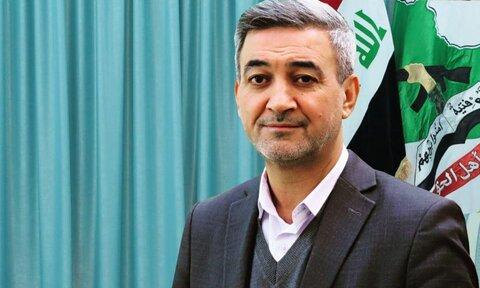 محمود الربیعی سخنگوی دفتر سیاسی جنبش عصائب اهل الحق عراق