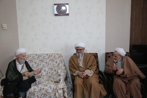 دیدار نمایندگان آیت الله اعرافی با اساتید پیشکسوت حوزه