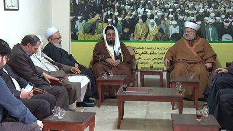 جبهة العمل الاسلامي تستقبل وفداً علمائياً من أهل السنة في الجمهورية الاسلامية الإيرانية