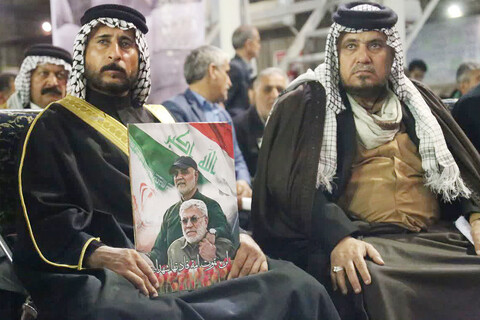 گرامیداشت چهلم سردار سلیمانی و ابومهدی المهندس در اهواز