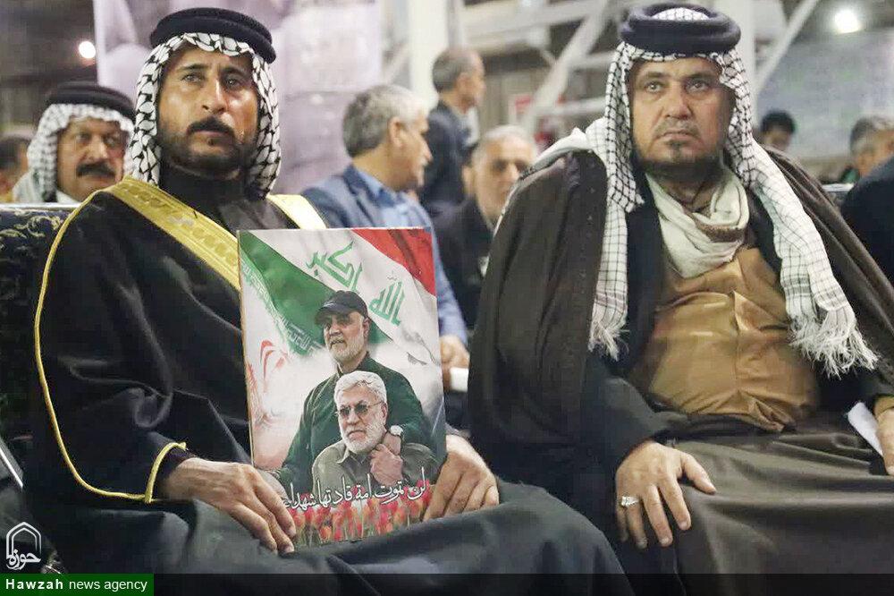 تصاویر/ گرامیداشت چهلم سردار سلیمانی و ابومهدی المهندس در اهواز