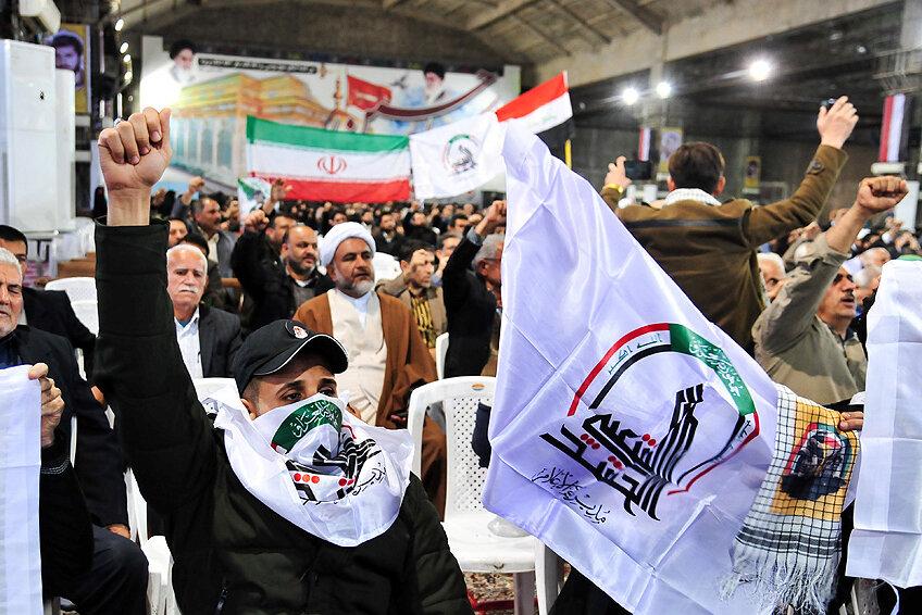 گرامیداشت چهلم سردار سلیمانی و ابومهدی المهندس در یک اجتماع بینالمللی+ عکس