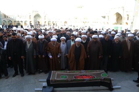 تصاویر / مراسم تشییع حاجیه خانم فقهی همسر آیة الله سعادت پرور ( پهلوانی تهرانی )