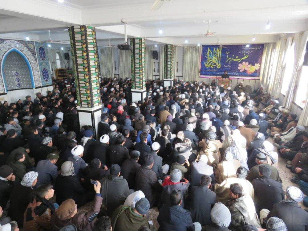 برگزاری مراسم جشن فاطمی در مسجد جامع مرکز فقهی ائمه اطهار (ع) در کابل + تصاویر