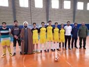 رقابت طلاب مراغه در مسابقات فوتسال جام فجر