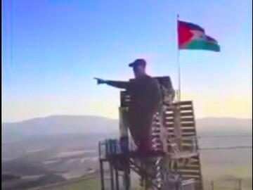 فیلم| رونمایی از تندیس سردار سلیمانی در مرز لبنان و فلسطین