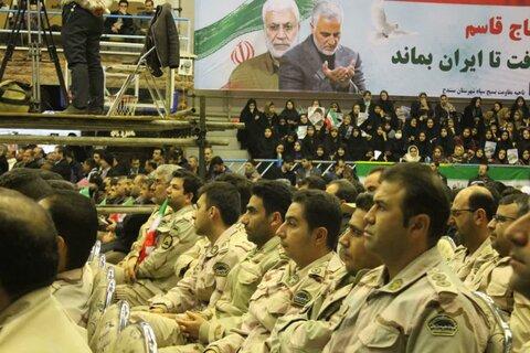 تصاویر/ مراسم گرامیداشت اربعین شهید سردار سلیمانی در ورزشگاه آزادی سنندج