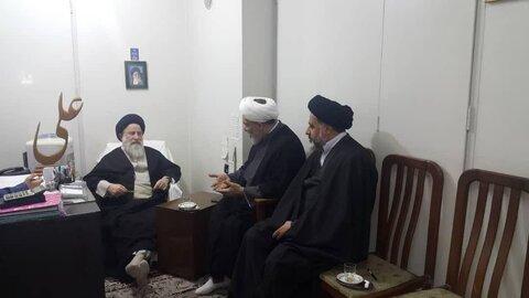 دیدار مدیر حوزه خواهران با حجت الاسلام سید باقر گلپایگانی