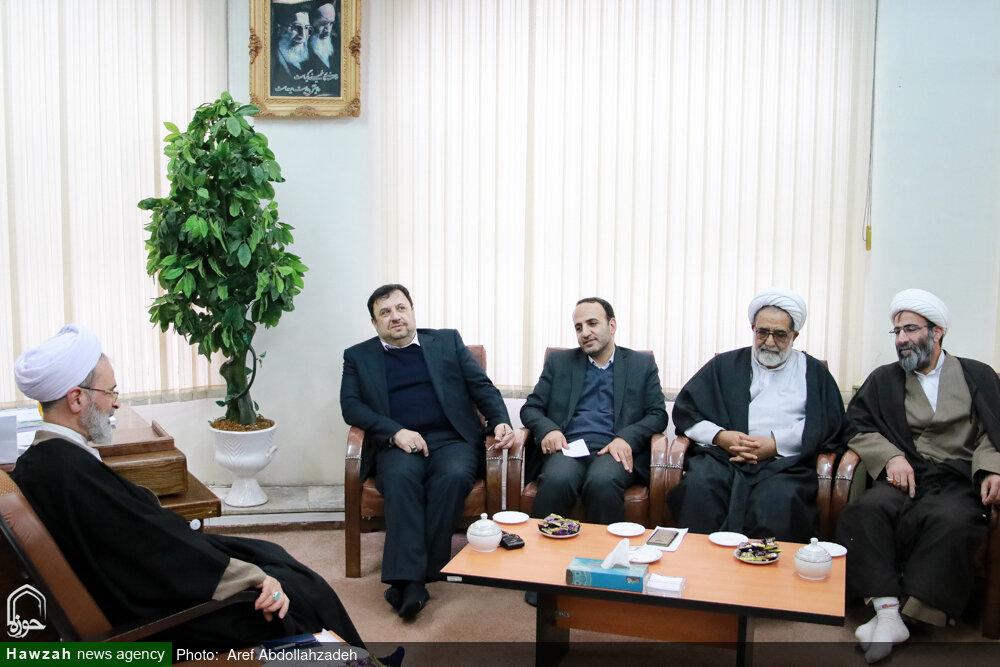 تصاویر/ دیدار دبیر شورای عالی فضای مجازی با آیت الله اعرافی