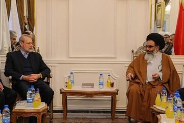 تصاویر/ حضور رئیس مجلس در حرم حضرت زینب(س) و دیدار با نماینده رهبری در سوریه
