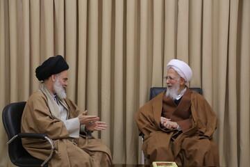 تصاویر/ دیدار دبیر شورای عالی حوزههای علمیه با آیت الله العظمی جوادی آملی