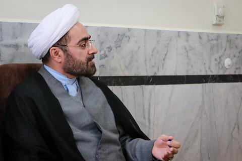 جلسه آیت الله حسینی بوشهری با مسئولین سامانه تقریرات