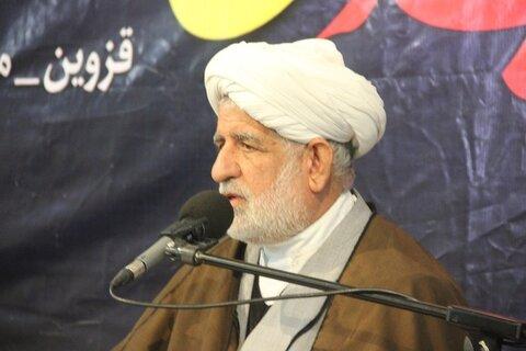 تصاویر/ مراسم گرامی داشت اربعین شهید سلیمانی در مسجد امام خمینی(ره) قزوین