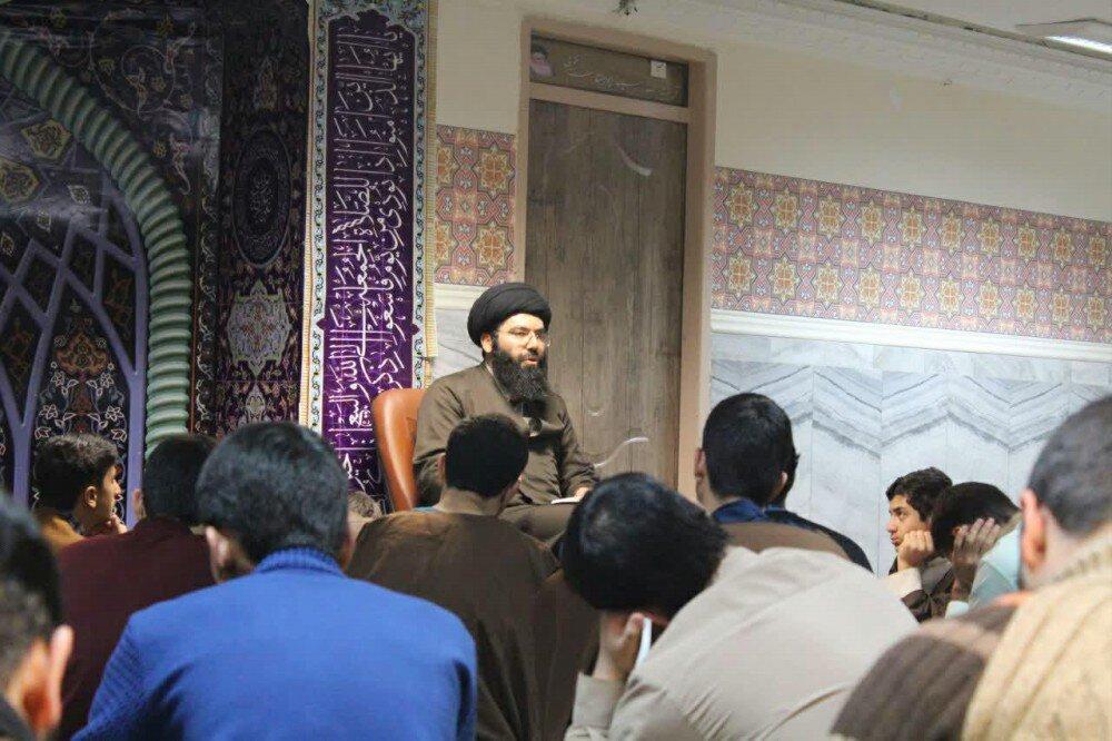 تصاویر/ برگزاری آیین حجره داری در مدرسه علمیه امام صادق (ع) قروه