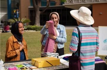 دانشجویان دانشگاه فولرتون آمریکا «امتحان حجاب» برگزار کردند