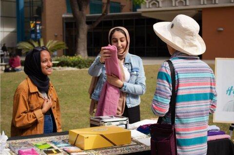 دانشجویان دانشگاه فولرتون، رویداد «امتحان حجاب» برگزار کردند