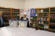 آیت الله العظمی مکارم شیرازی رای خود را به صندوق انداختند