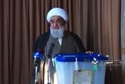 فیلم| آیت الله مظاهری رأی خود را به صندوق انداخت