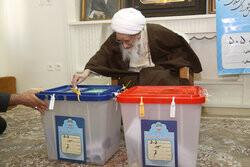 شرکت آیت الله العظمی صافی گلپایگانی در انتخابات