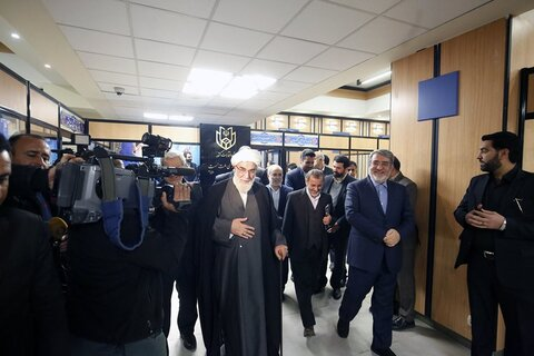 بازدید رئیس دفتر مقام معظم رهبری از ستاد انتخابات کشور