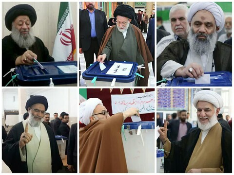 علمای خوزستان پای صندوق های رأی