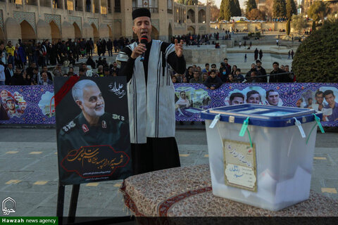 تصاویر حضور حماسی مردم انقلابی اصفهان پای صندوق های رای