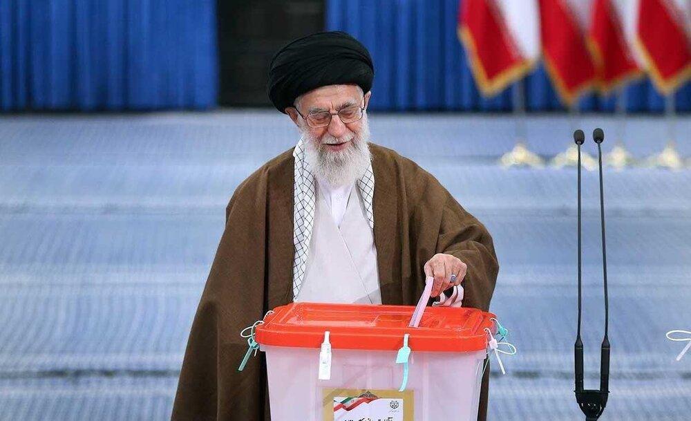 فیلم| بیانات رهبر انقلاب پس از شرکت در انتخابات