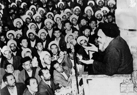 امام خمینی (ره) در جمع روحانیون