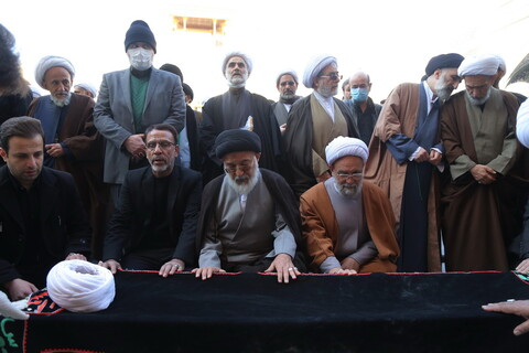تصاویر / مراسم تشییع پیکر آیت الله حاج شیخ محمدعلی شاهرودی ( مظفری )
