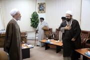 تصویری رپورٹ|علامہ حافظ ریاض حسین نجفی کی آیت اللہ اعرافی سے ملاقات