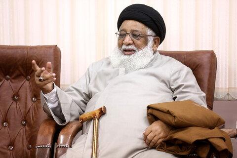 السيد حافظ رياض رئيس حوزة جامعة المنتظر العلمية في لاهور يلتقي بآية الله الأعرافي بقم المقدسة