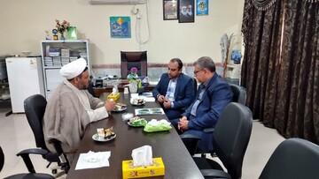 دیدار مدیر حوزه علمیه خواهران خوزستان با مسئولان هندیجان+عکس