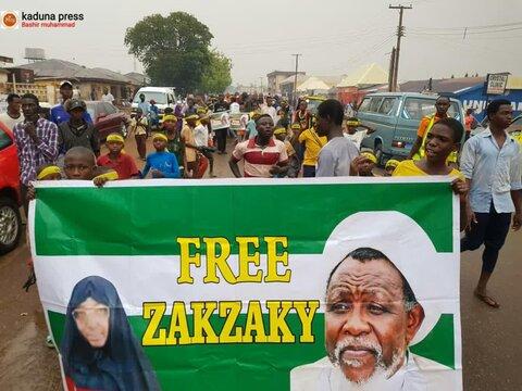 مردم شهر ابوجا برای آزادی شیخ زکزاکی تظاهرات کردند