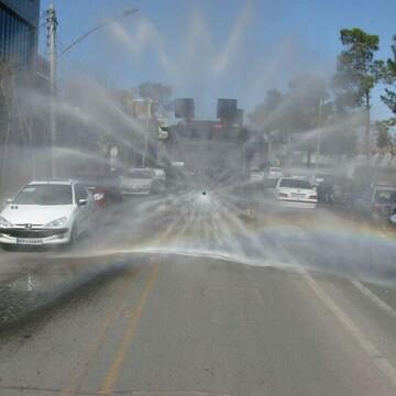 کلیه خیابانها و معابر پرتردد کاشان ضدعفونی شد