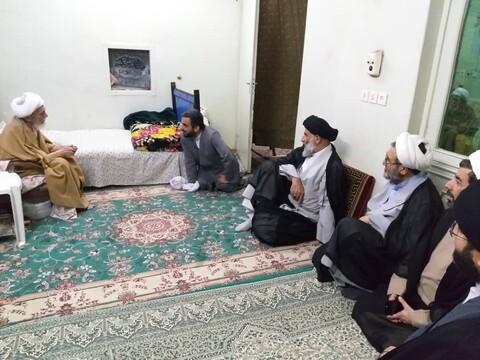 تصاویر/ دیدار مسئولان حوزوی خوزستان با علمای بلاد و اساتید مدارس علمیه