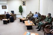 بالصور/ قائد قوات الجيش البرية في إيران يلتقي بآية الله الأعرافي بقم المقدسة