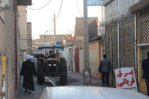 ضدعفونی شهر توسط طلاب جهادی