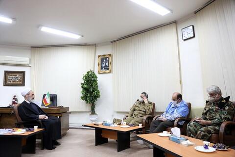 تصاویر/دیدار فرمانده نیروی زمینی ارتش با اعرافی