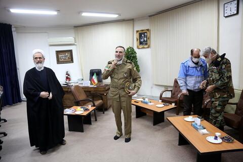 قائد قوات الجيش البرية يلتقي بآية الله الأعرافي بقم المقدسة