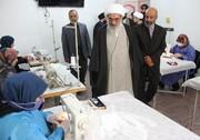 بازدید امام جمعه بوشهر از کارگاه مردمی تولید ماسک بهداشتی+ فیلم