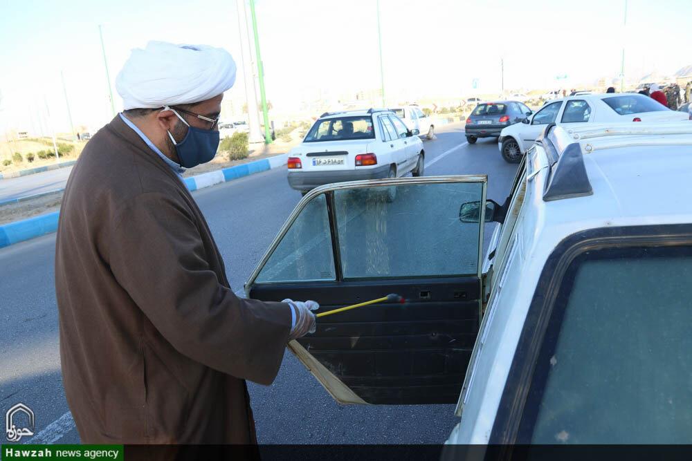 تصاویر/ مبارزه طلاب جهادی حوزه علمیه اصفهان با ویروس کرونا