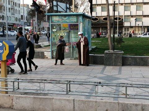 تصاویر/ فعالیتهای طلاب قزوین برای مقابله با کرونا