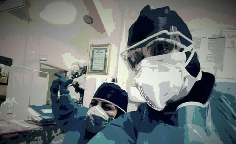 سرکار خانم نوروزی ازطلاب حوزه علمیه جلالیه معصومیه سلام الله علیها در بیمارستان کوثر آستانه اشرفیه.